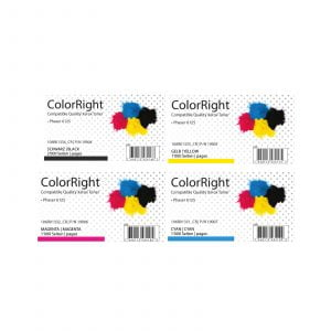 ColorRight Toner Satz CMYK Xerox Phaser 6125